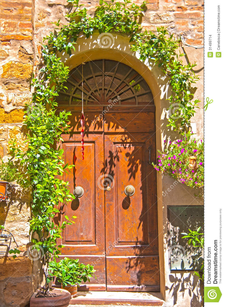 Old Door Tuscany Italy Stock Photo Image Of Front Home