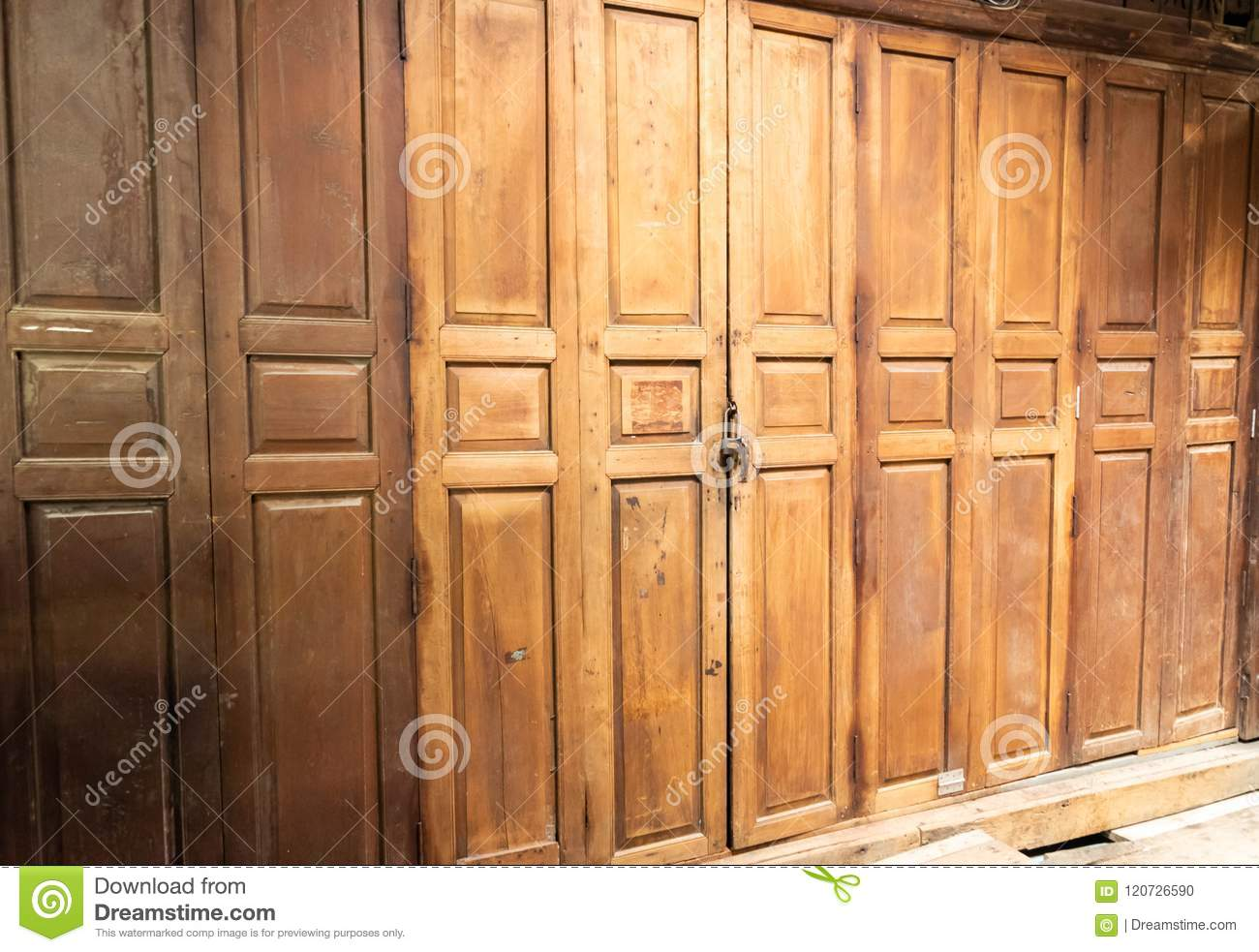 The Old Door Stock Photo Image Of Retro Traditional