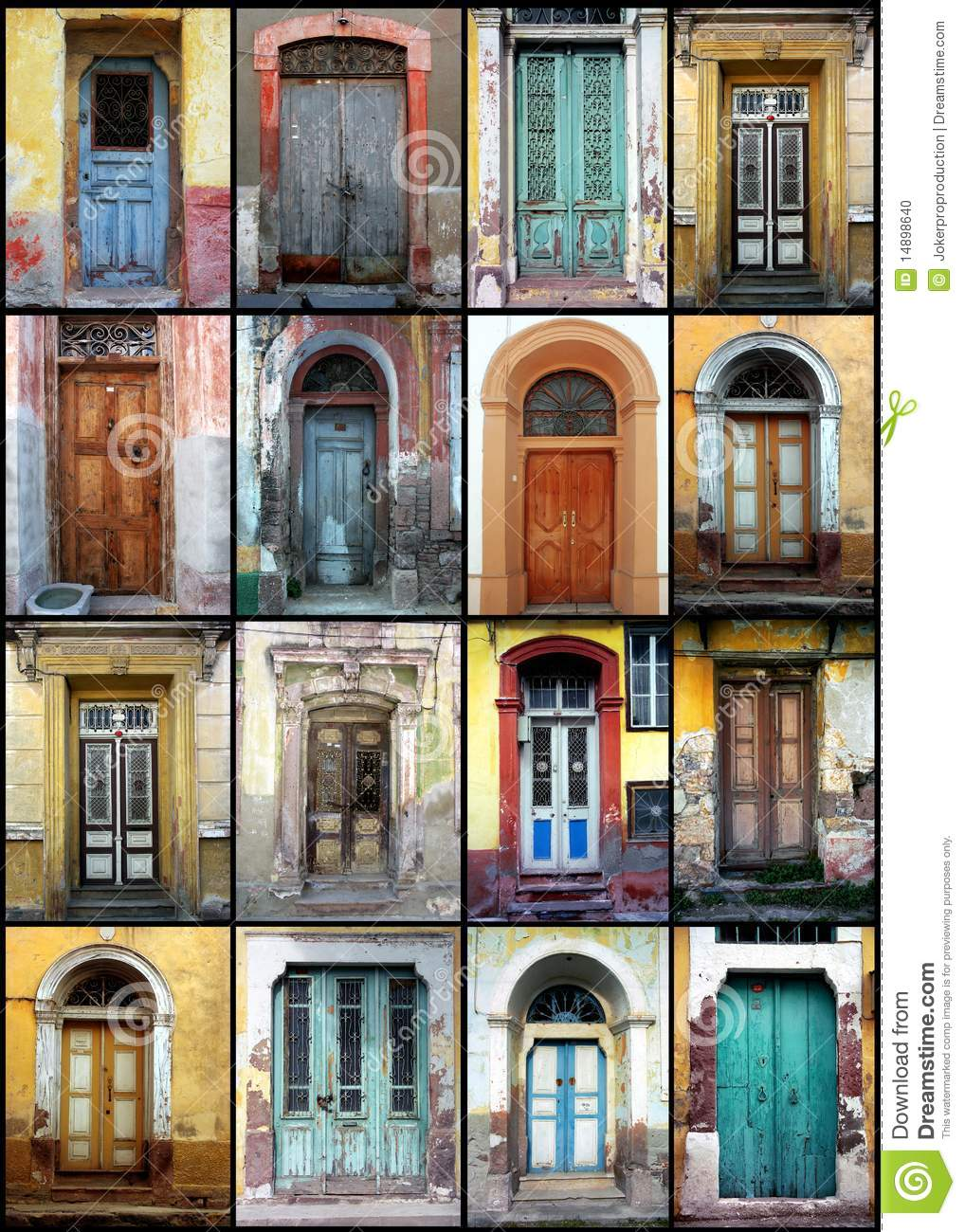 Old Doors Stock Photo Image 14898640