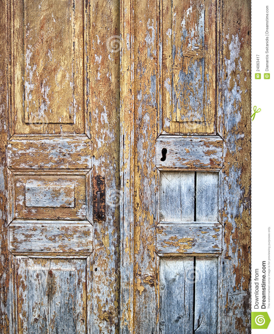 Old Doors Stock Image Of Ancient Decor Greece