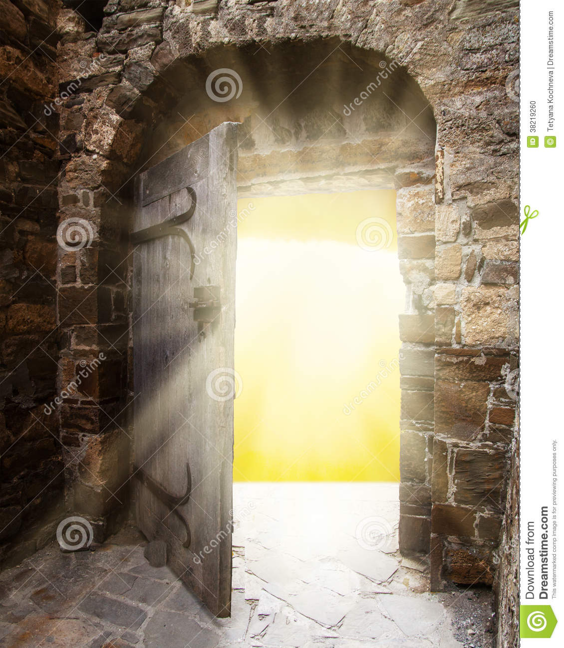 Old Doors And Bright Light From Haven Stock Photo Image
