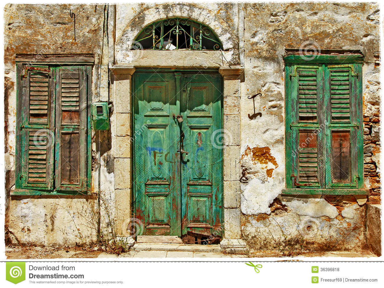 Old Doors Greece Stock Photo Image Of Historical