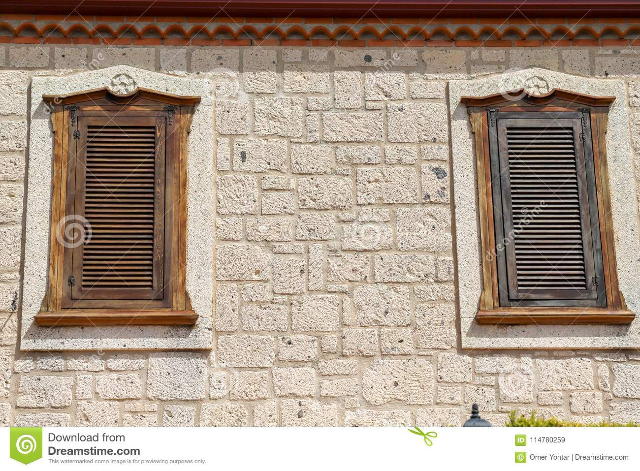 Old doors and windows stock image. Image of exterior - 114780259