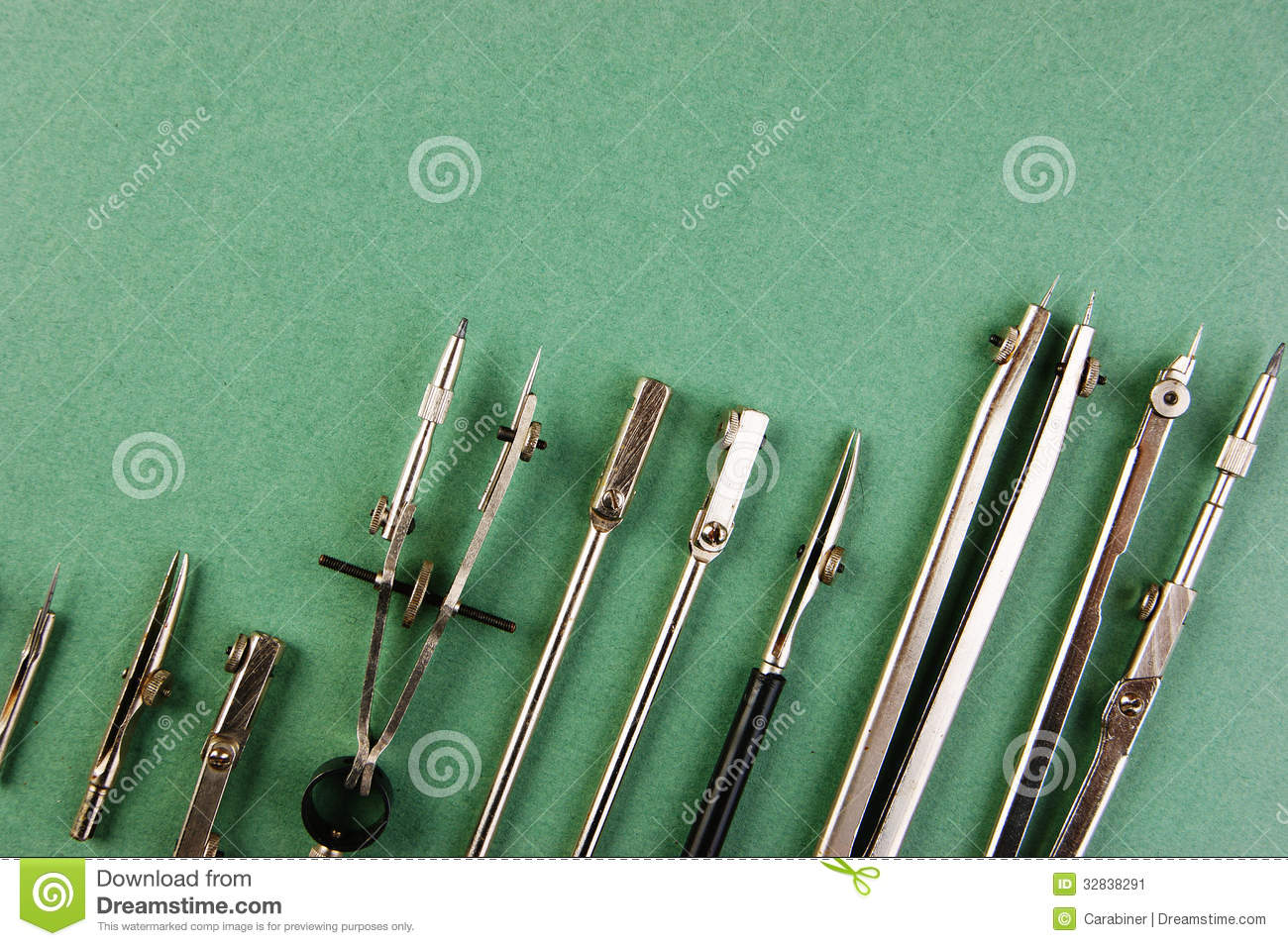 Old drawing tools