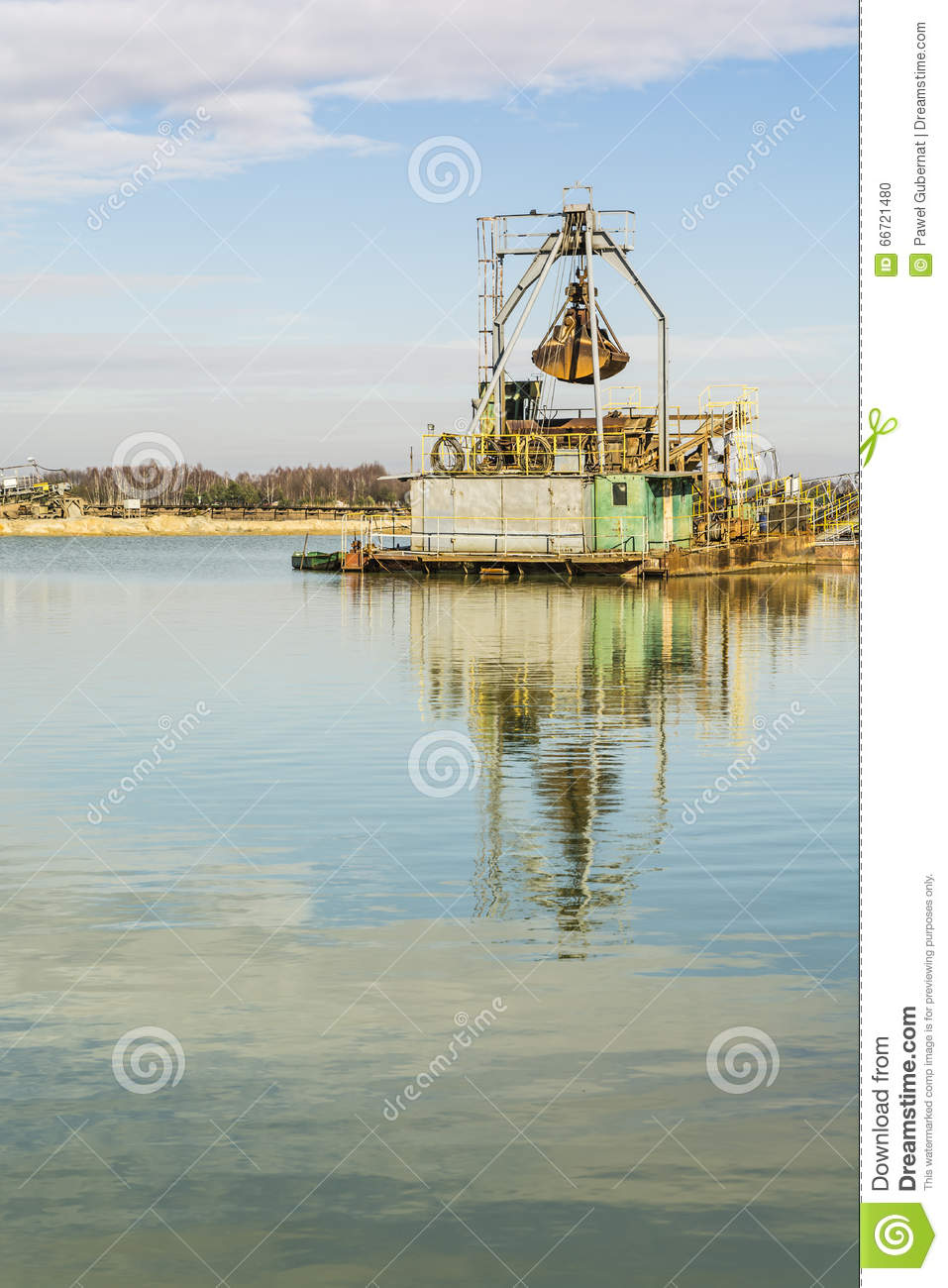 Old dredge  stock photo  Image of dredging, aggregate - 66721480