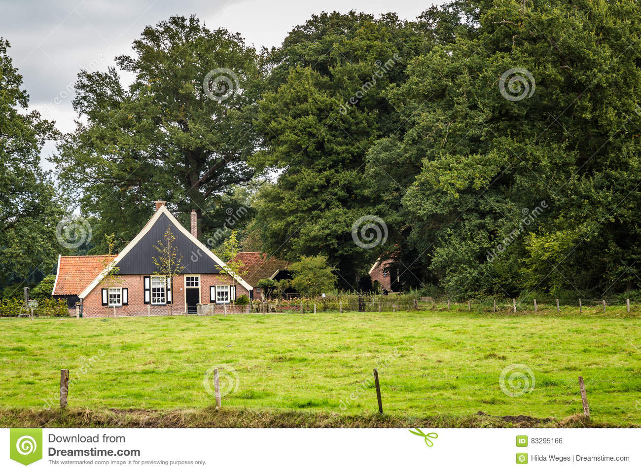 Old dutch farmhouse royalty free stock image for Farm house netherlands