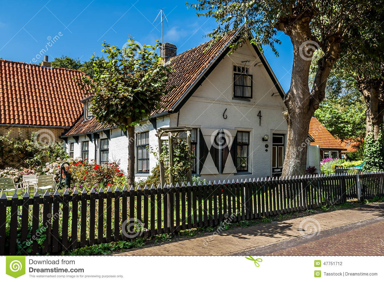 Old dutch house in hollum ameland holland stock photo for Dutch house