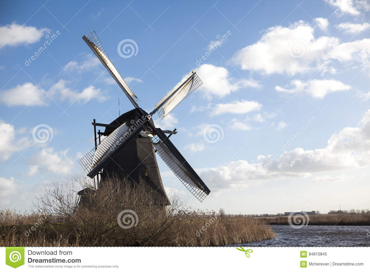 The Old Dutch Windmills Holland Rural Expanses Windmills The