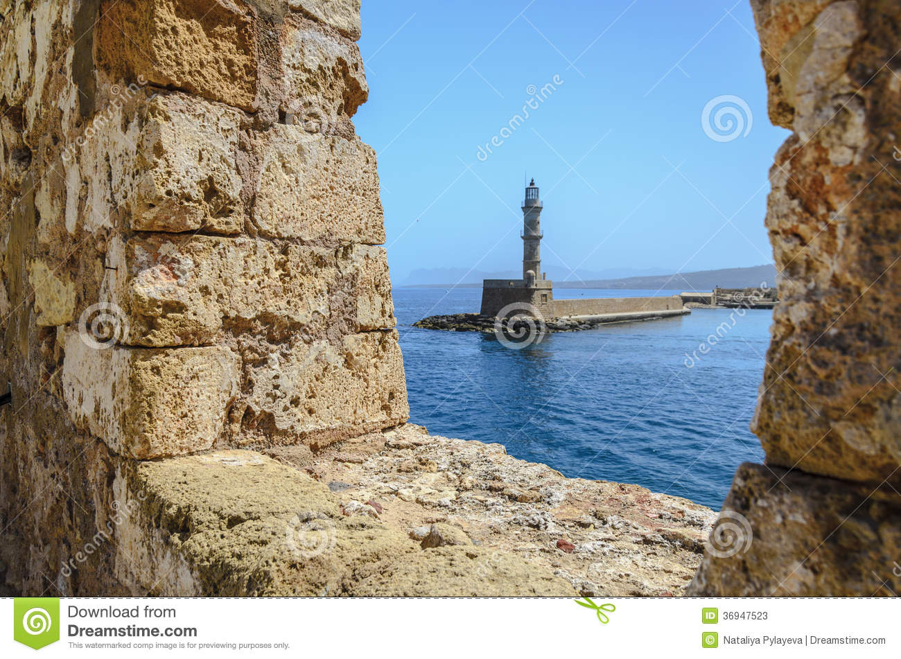Old egyptian lighthouse in chania stock photos image for Http wikipedia org wiki