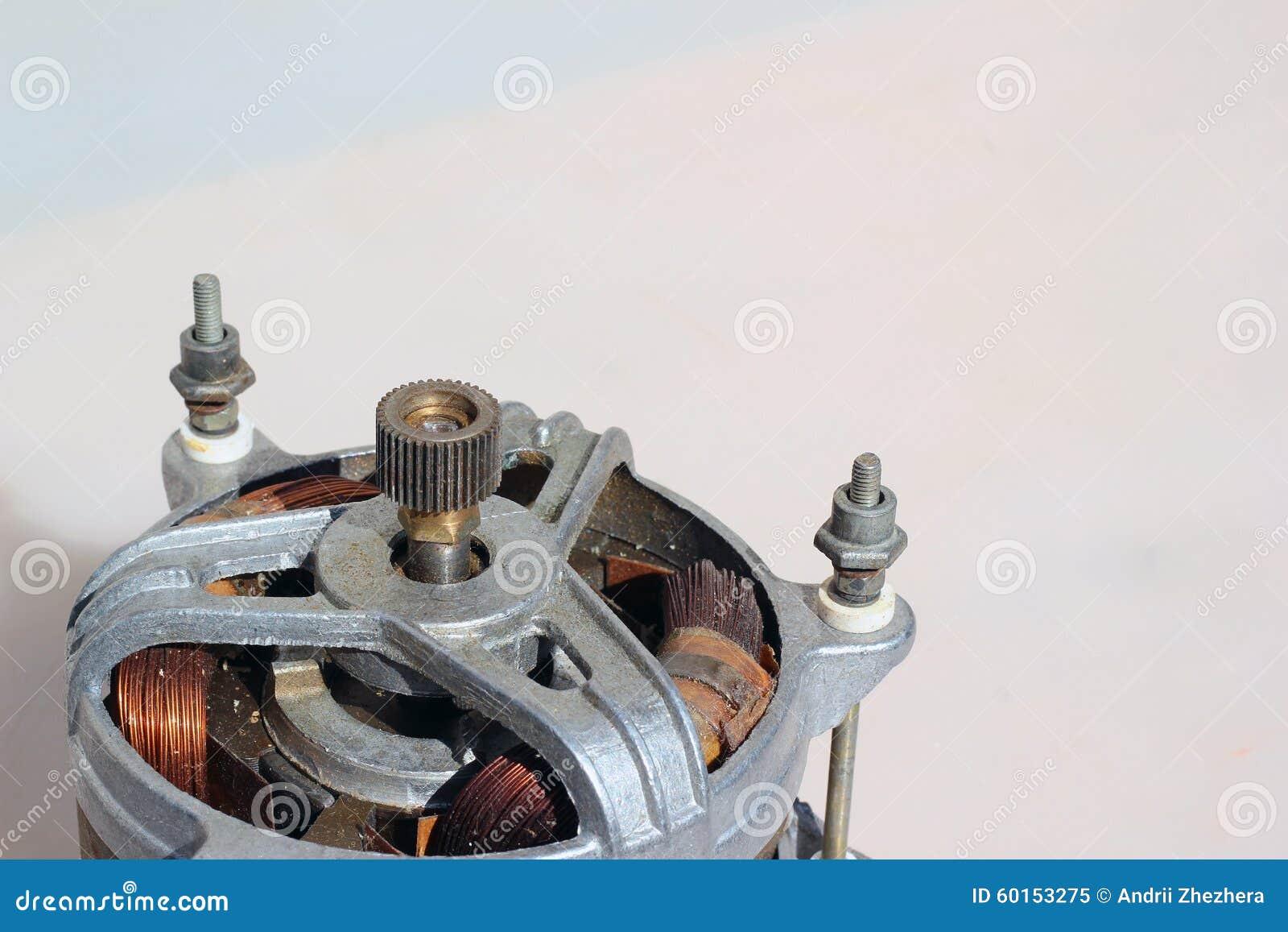 Old electric motor, background image