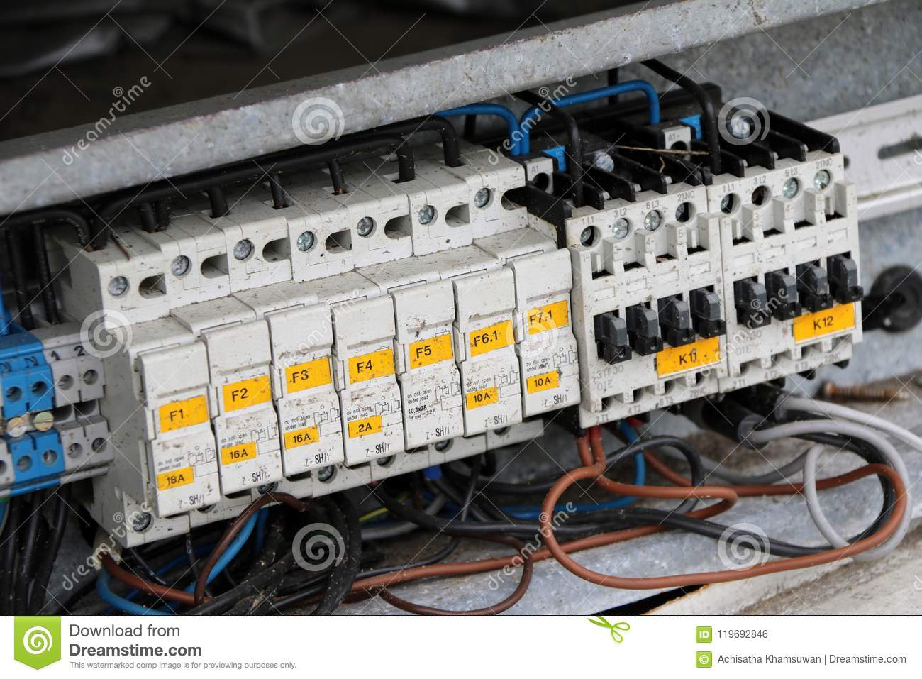 Old Electric Switch Cut Out, A Device That Automatically Breaks An ...