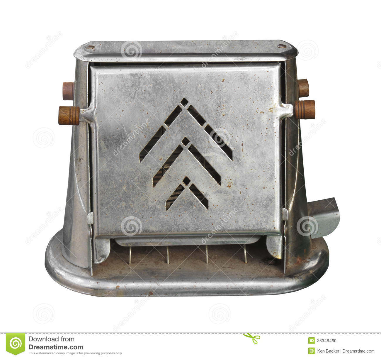 Old Electric Toaster Isolated Stock Photo Image 36348460