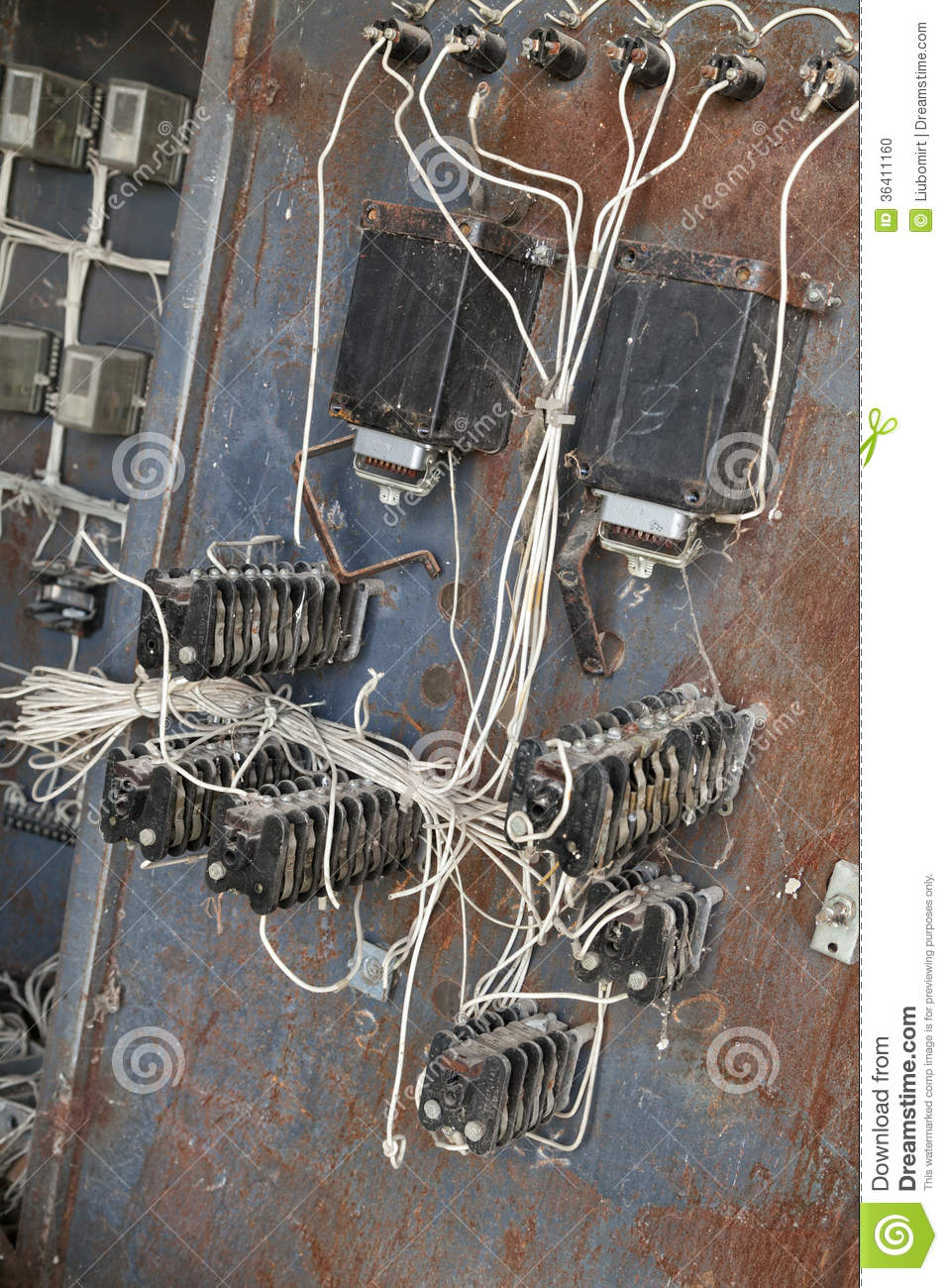 Old electric transformer stock photo. Image of electrical - 36411160