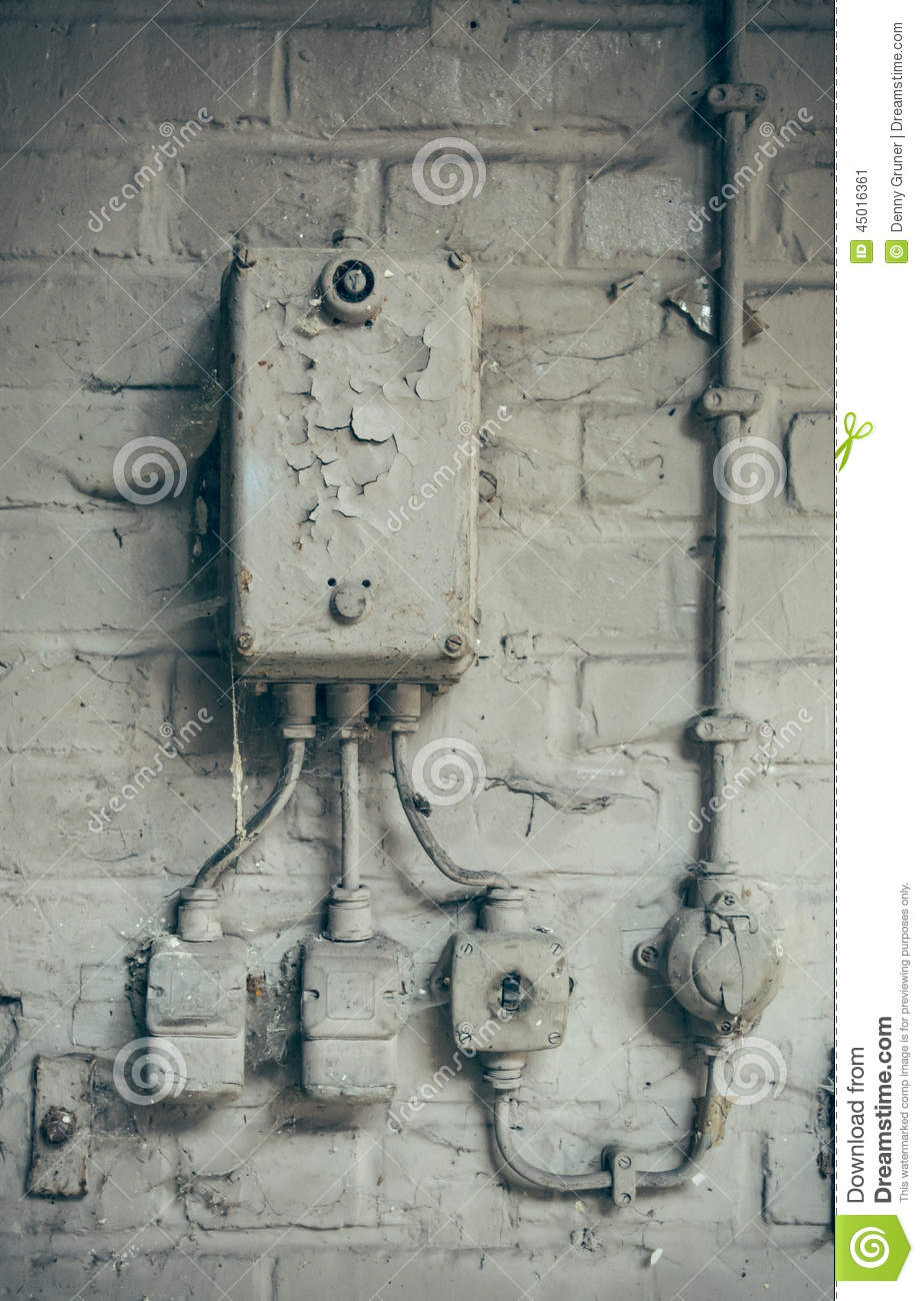 Old Home Fuse Box Parts Electrical Stock Photo Image 45016361 Insurance