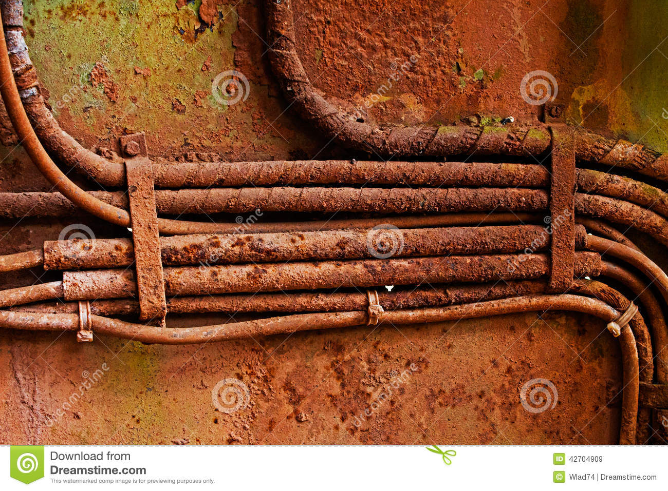 6 9 l wiring old electrical cables on dirty rusty iron wall stock image  old electrical cables on dirty rusty iron wall stock image