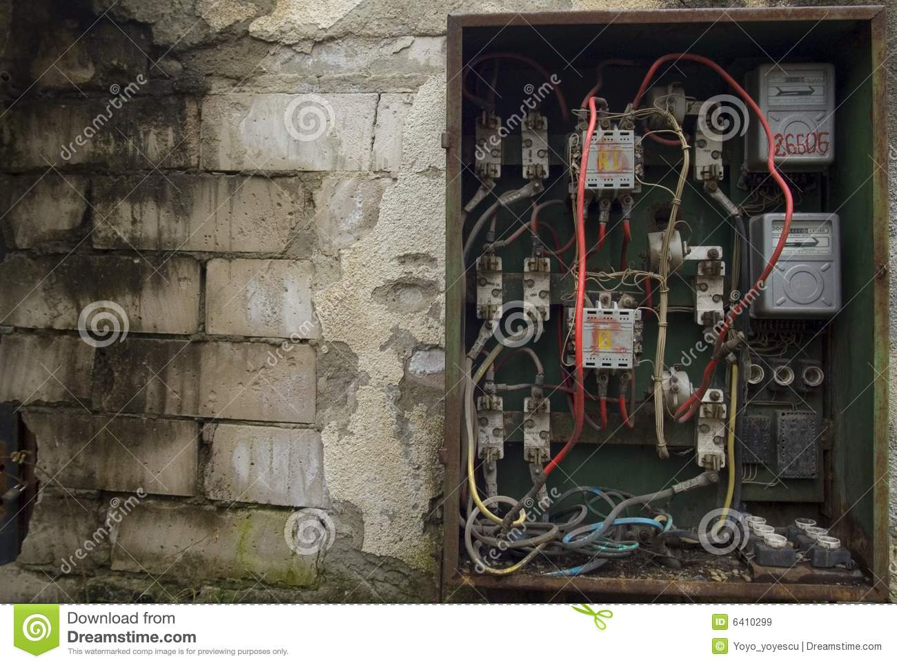 Fuse Box Usage : Old electrical panel royalty free stock images image
