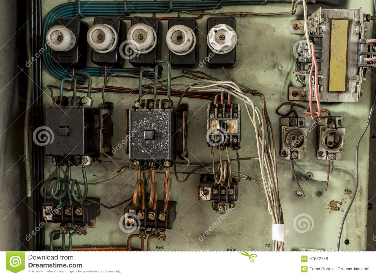 Old Electrical Wires Stock Photo Image Of Engineering 67632788 Wiring Download