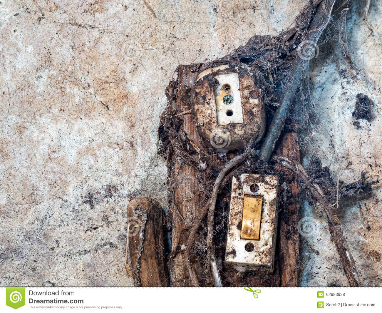 Old Electrical Wiring And Switch Stock Photo Image Of Wall Download