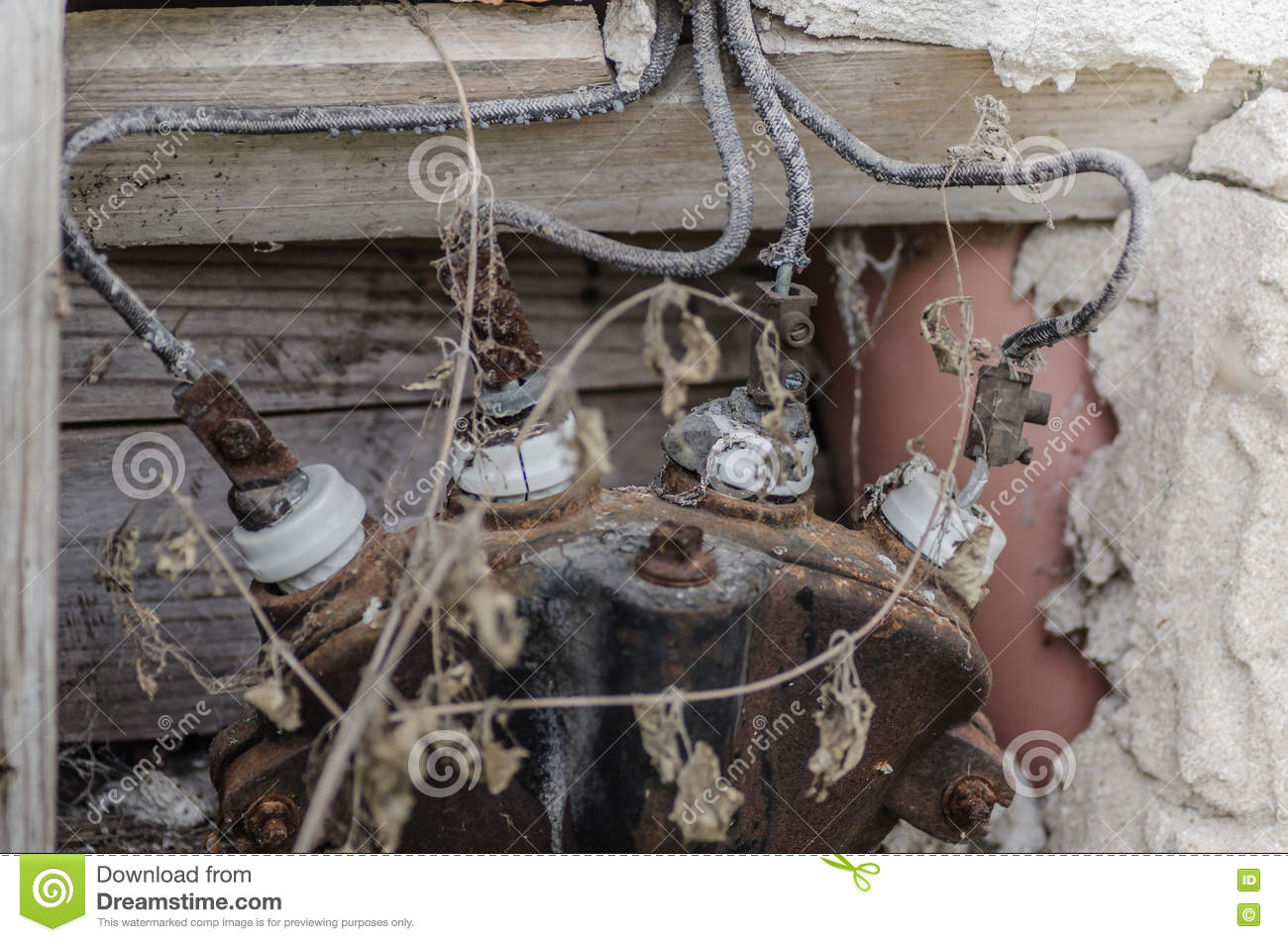 Old Electrician In House Stock Photo Image Of Monument 74252622 Wiring