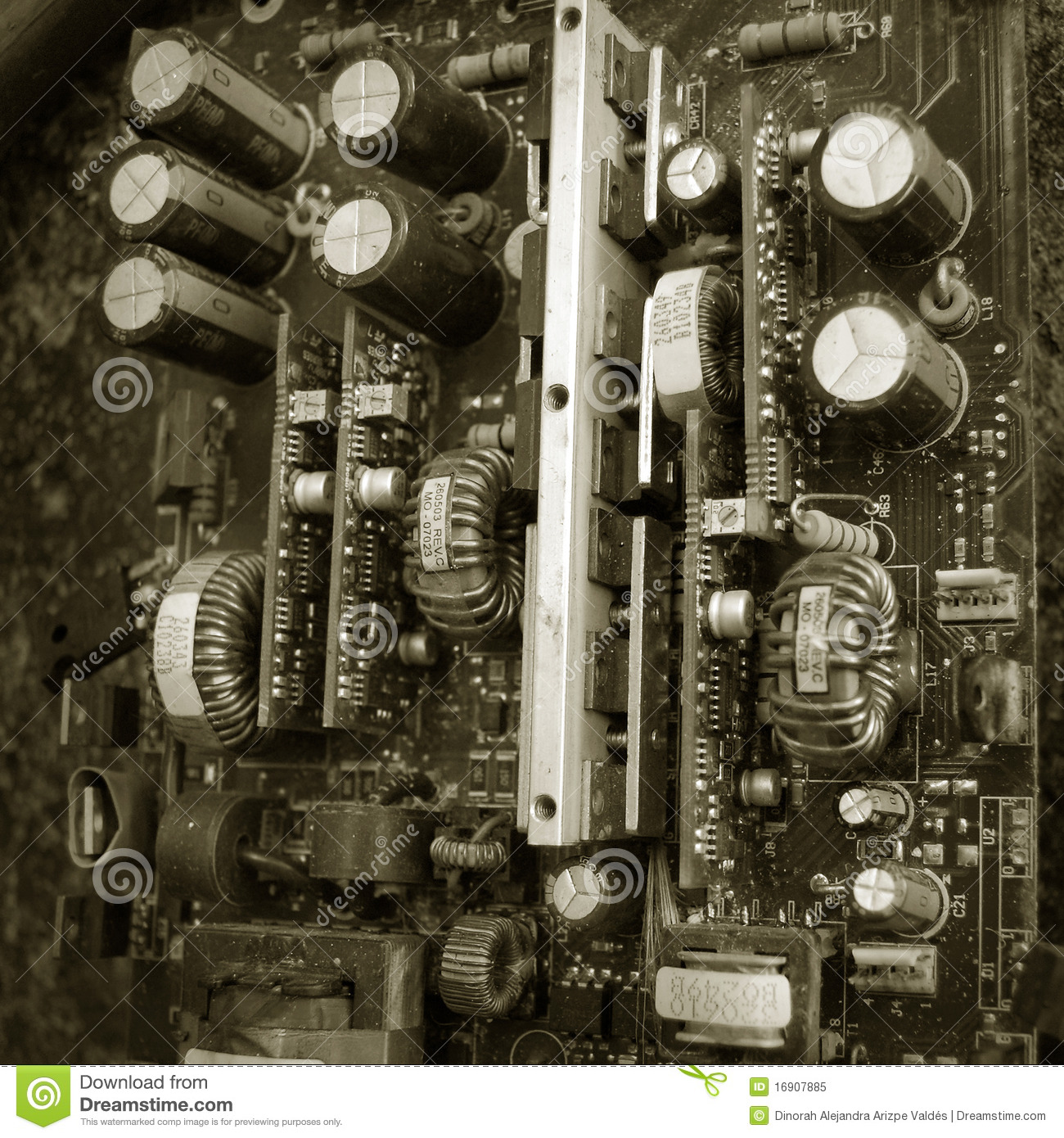 Old Electronic Circuit Board Stock Image Of Vintage Electronics Royalty Free Photo