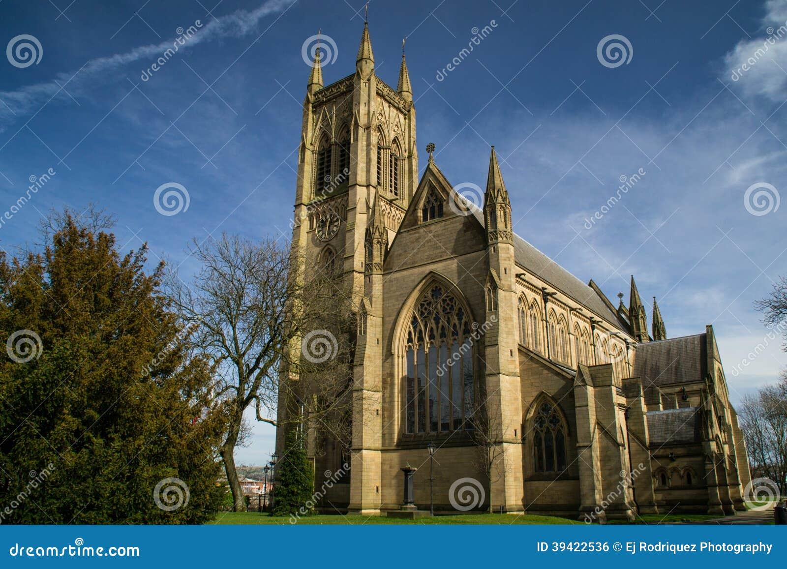 Old English church.