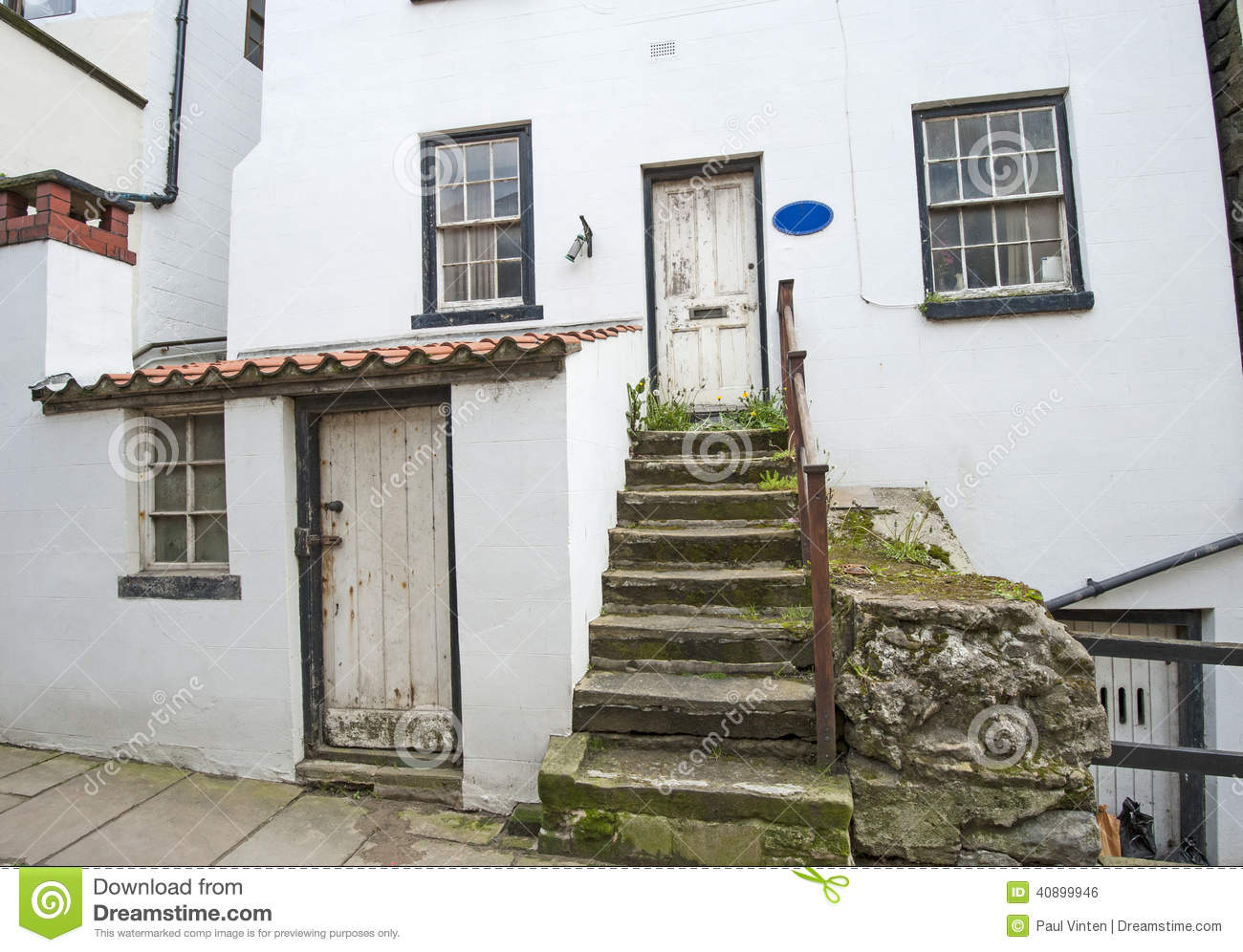 Old English Country Cottage In Village Stock Photo Image 40899946