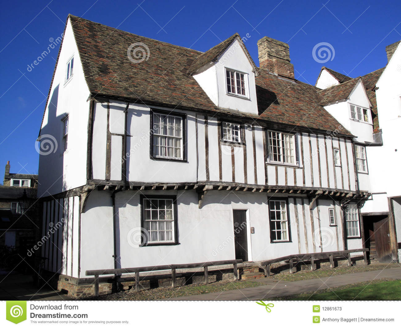 English Stone Cottage House Plans Old English Medieval House Stock Photos Image 12861673