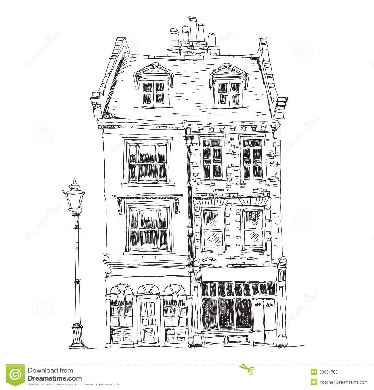 Old English Town Houses With Shops On The Ground Floor