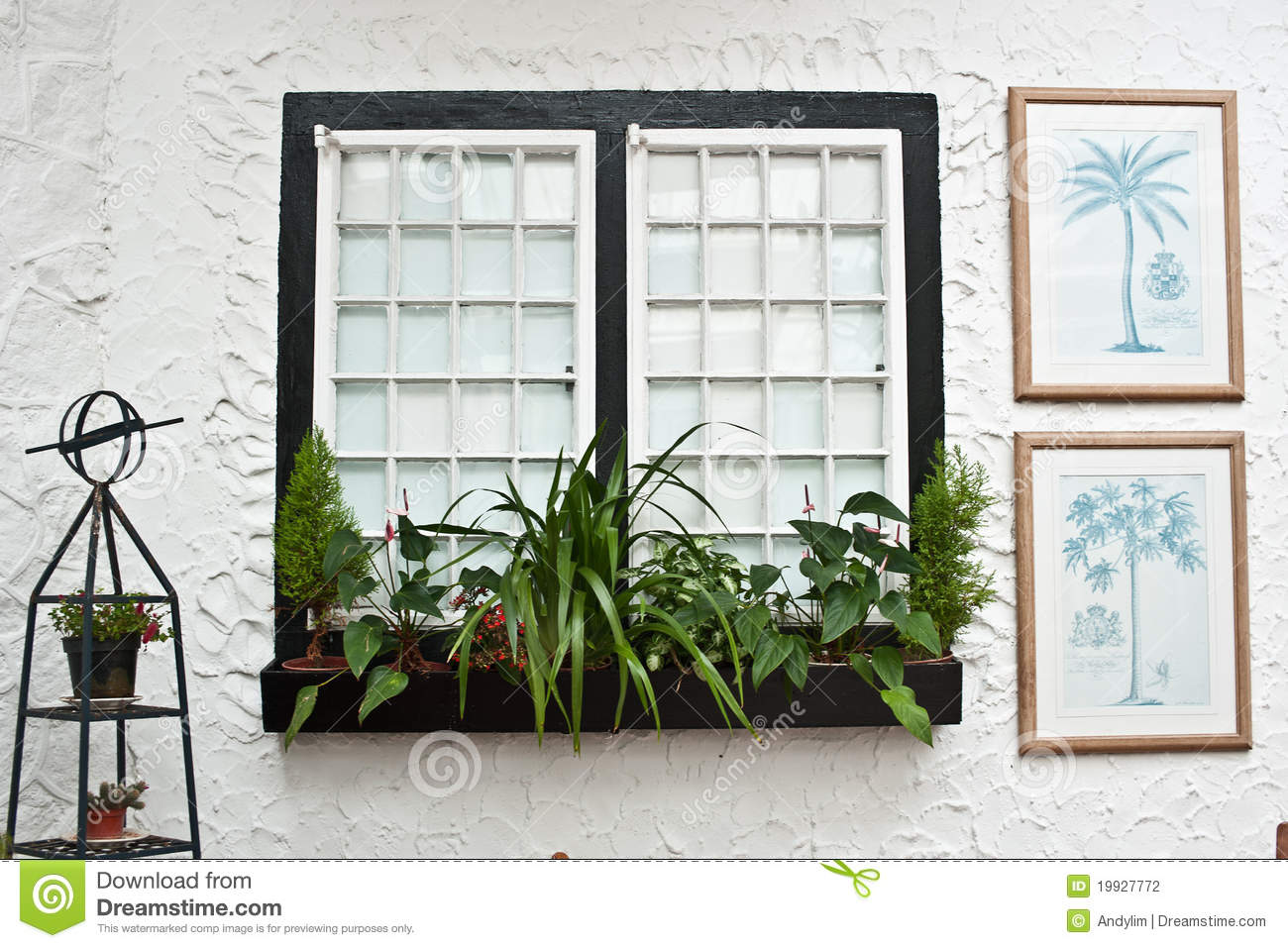 old english tudor style decor white windows stock photography