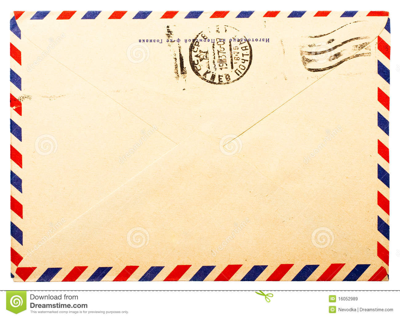 Old Envelope Back Side Royalty Free Stock Images Image