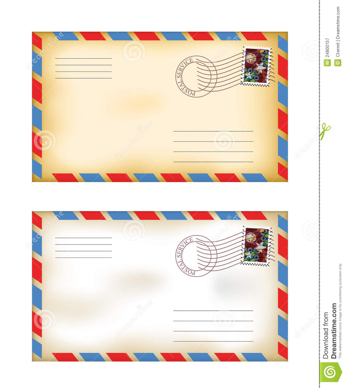Old envelopes royalty free stock photography image 24800157