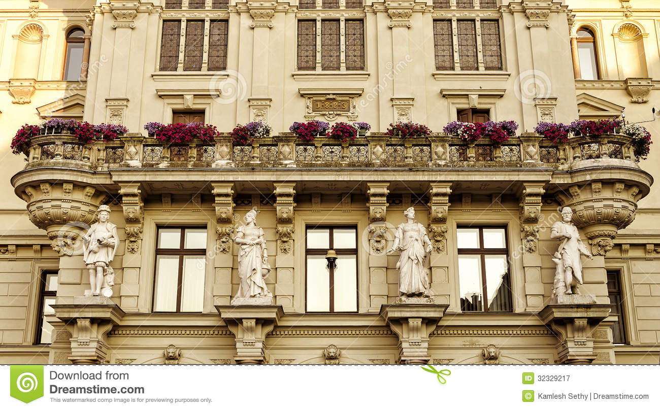 Old european building stock image image of building for Terrace building