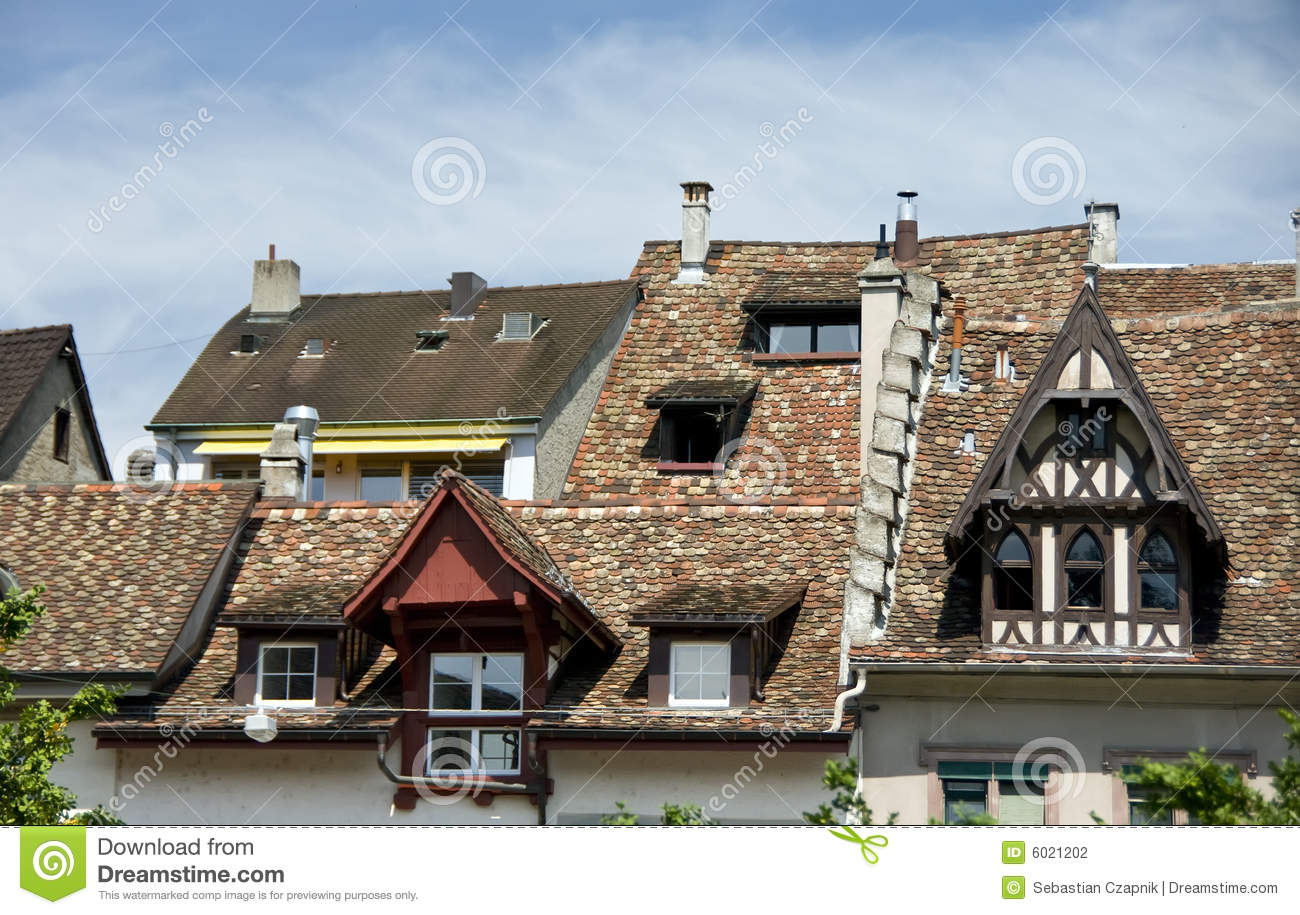 Old European Houses Stock Photography Image 6021202