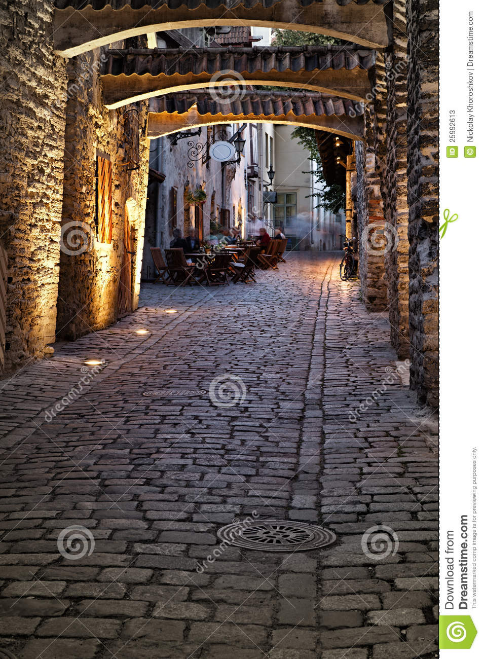 Old European Street Stock Image Image Of Destination