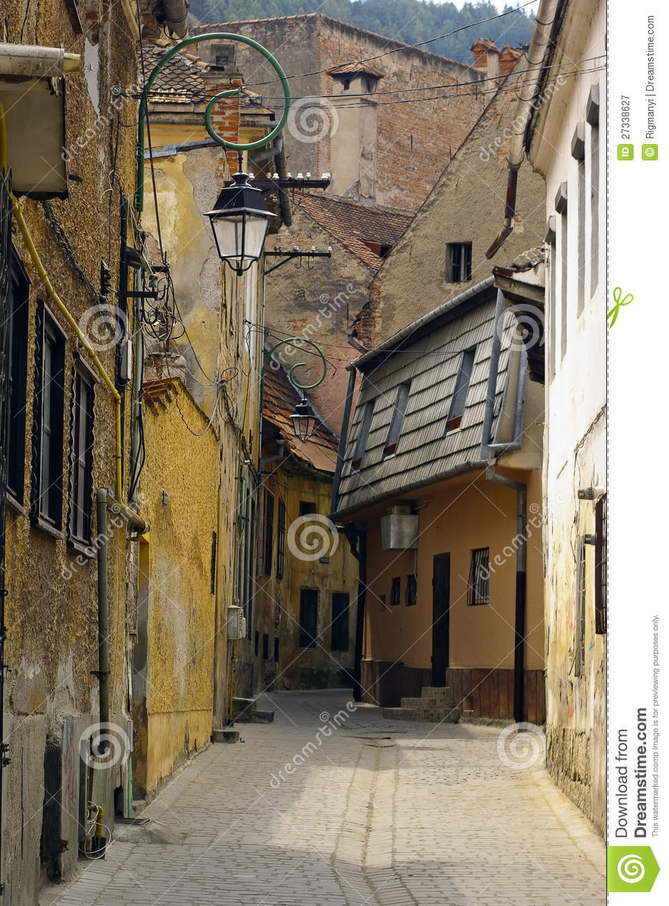 Old European street stock image. Image of house, european ...