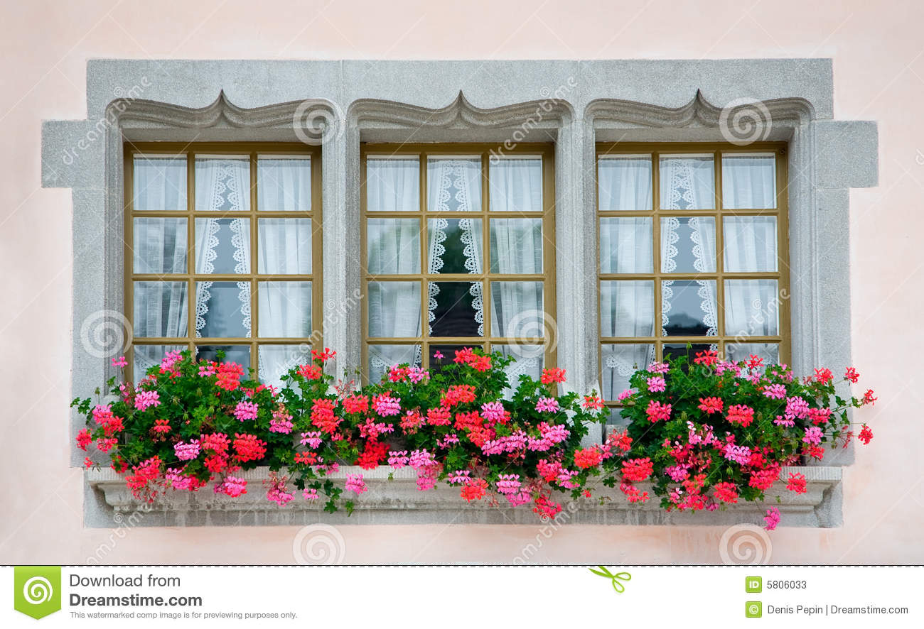 Old European Windows Stock Image Image Of Retro Drapes