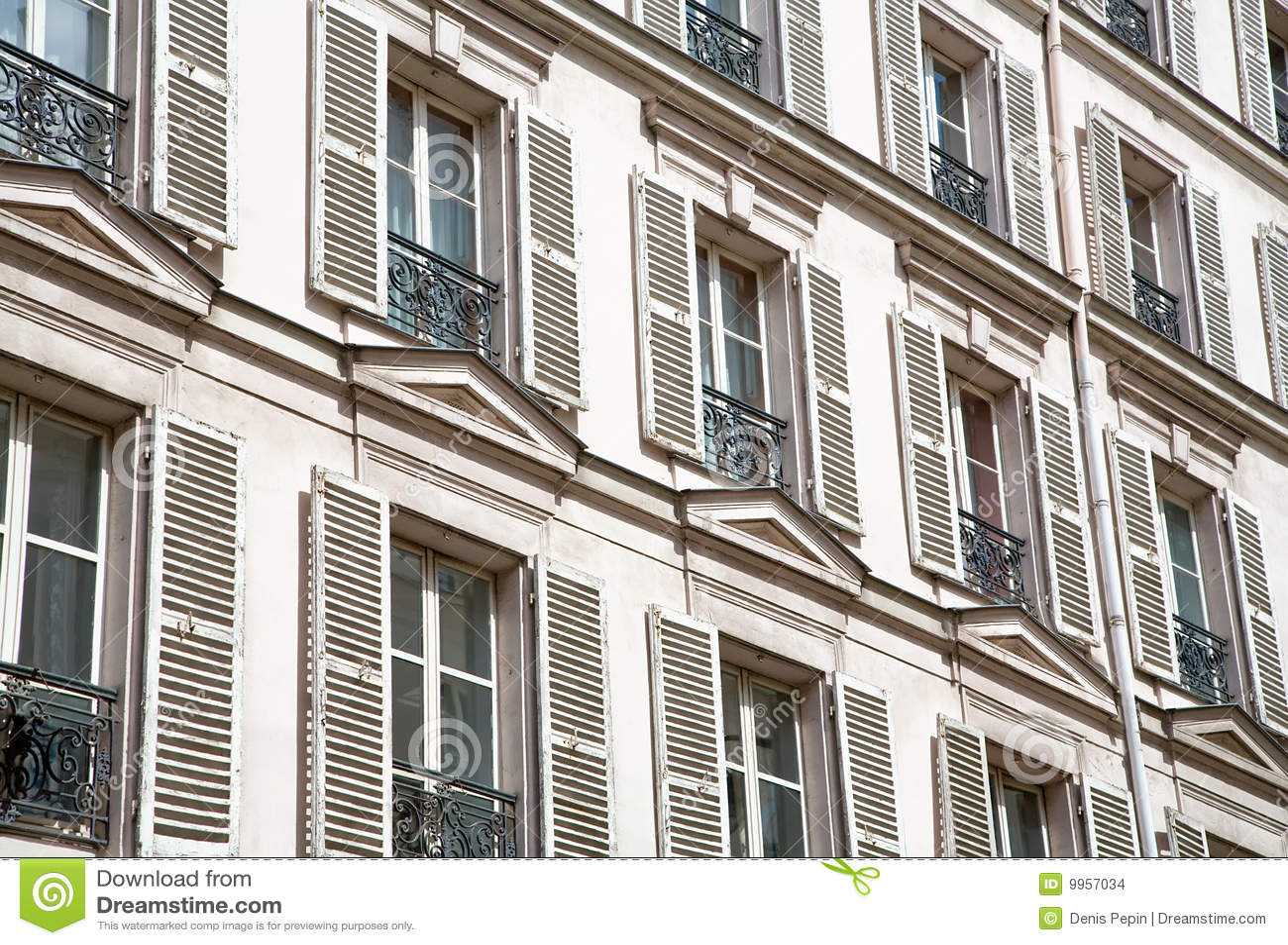 Old European Windows Stock Images Image 9957034