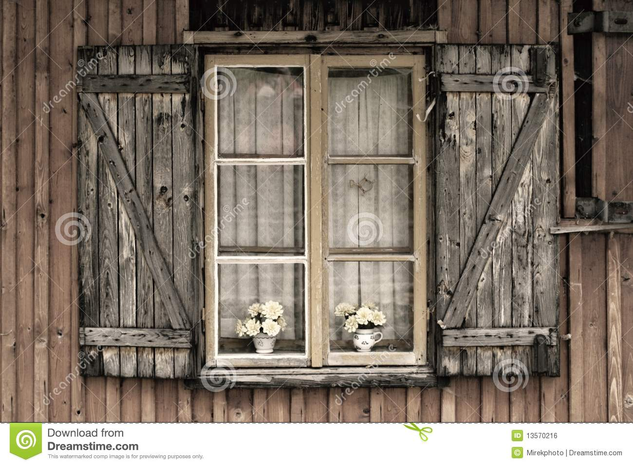 old european wooden window royalty free stock image image 13570216. Black Bedroom Furniture Sets. Home Design Ideas