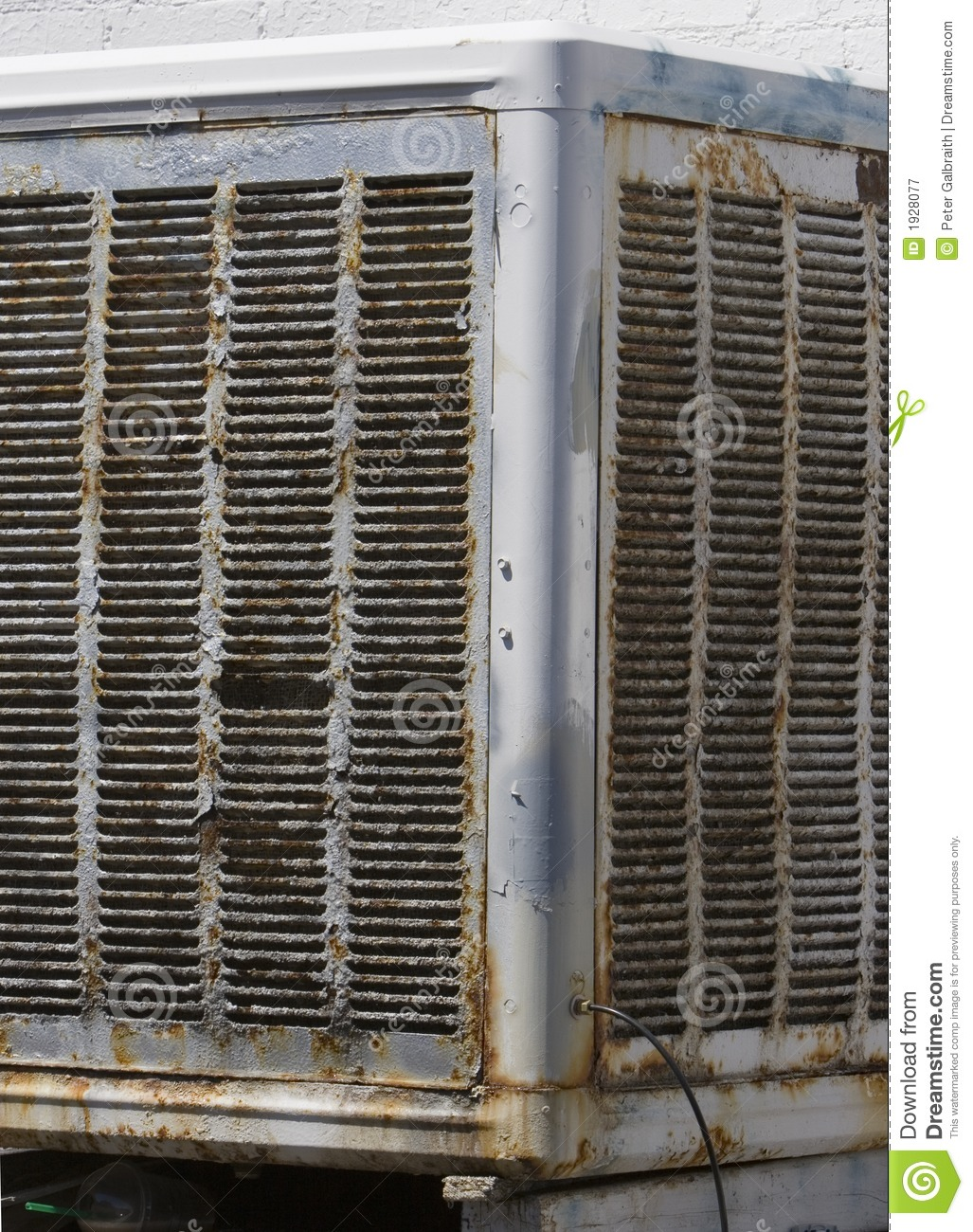 Old Evaporative Cooler Stock Image Image Of Evaporative