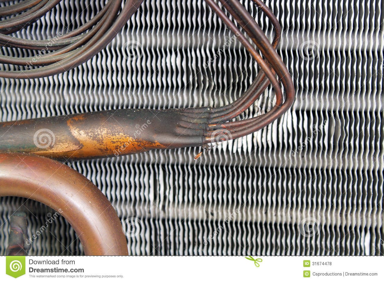 3 Ton Air Conditioner >> Old Evaporator Coil (13) stock photo. Image of tubes - 31674478