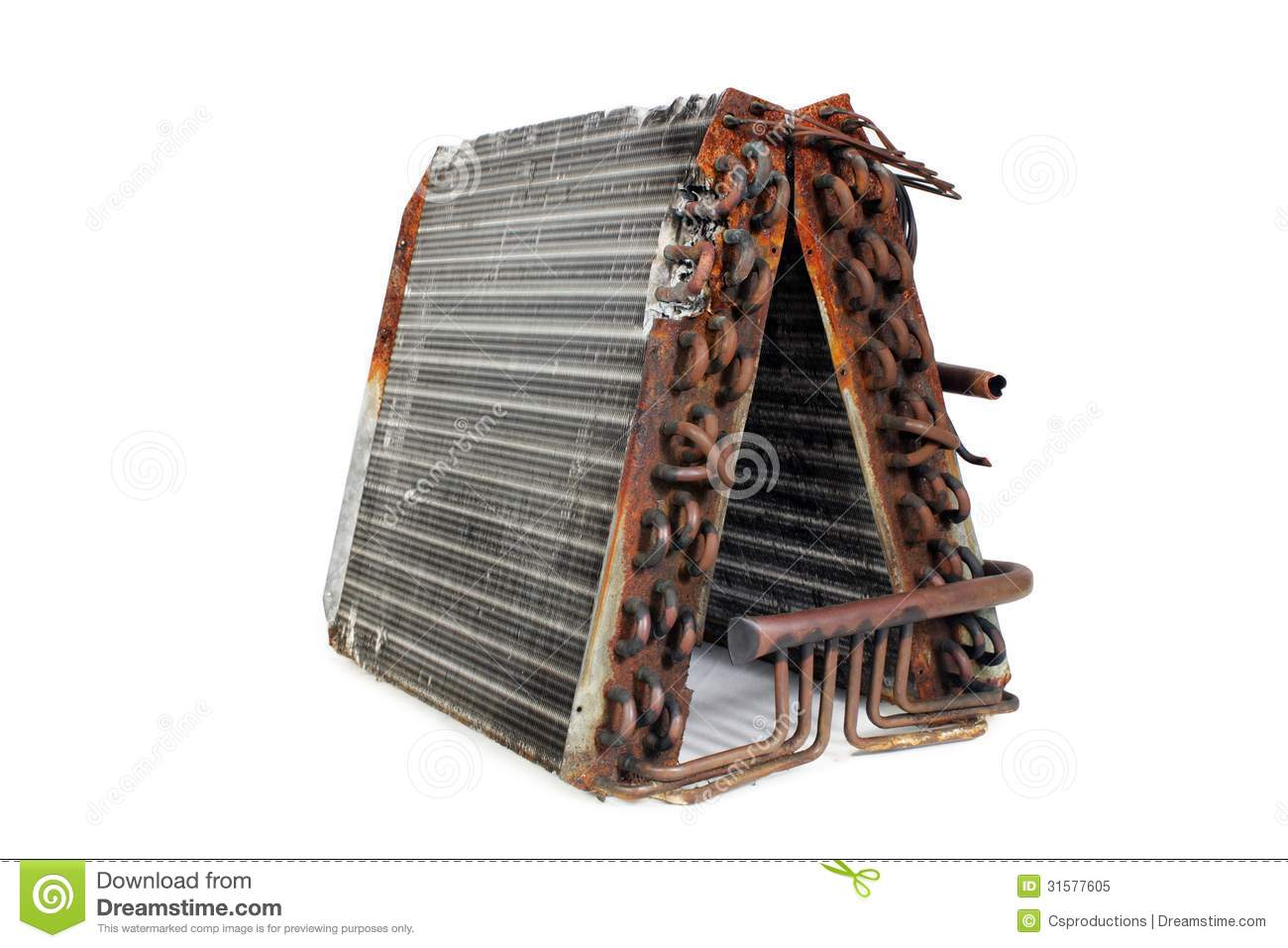 old evaporator coil front angle frame taken ton residential r straight capillary system 31577605