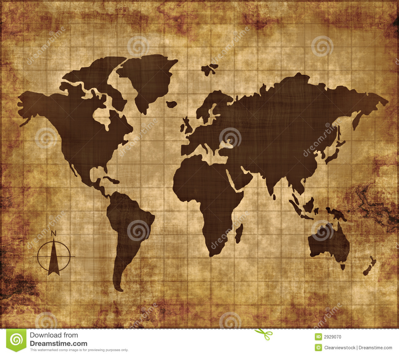 Old Fabric Paper Parchment Map Stock Vector - Illustration ...