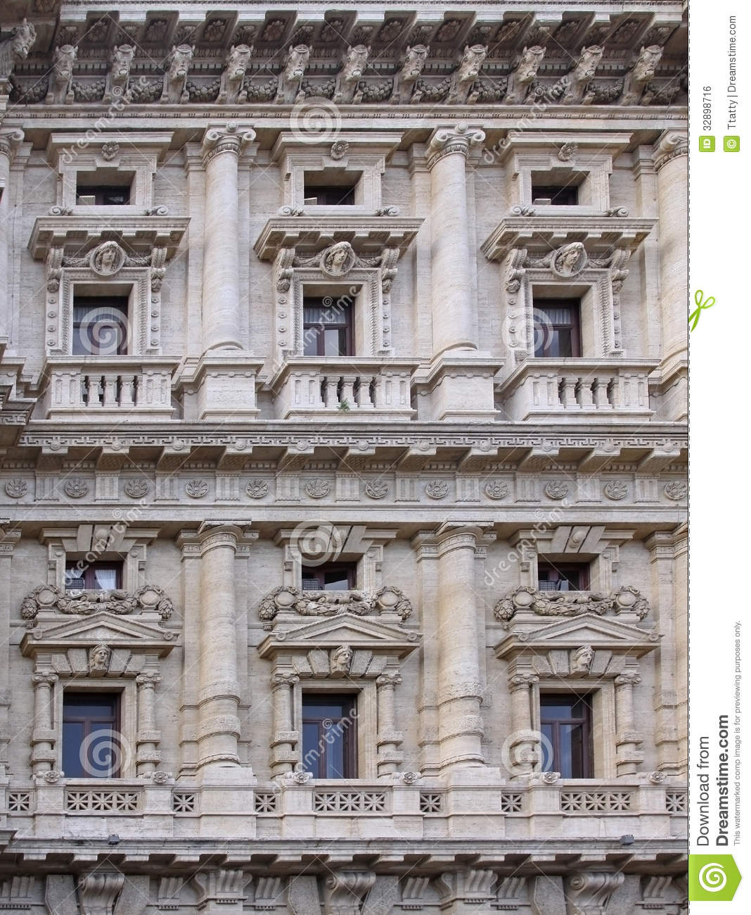 Old Facade Royalty Free Stock Image Image 32898716