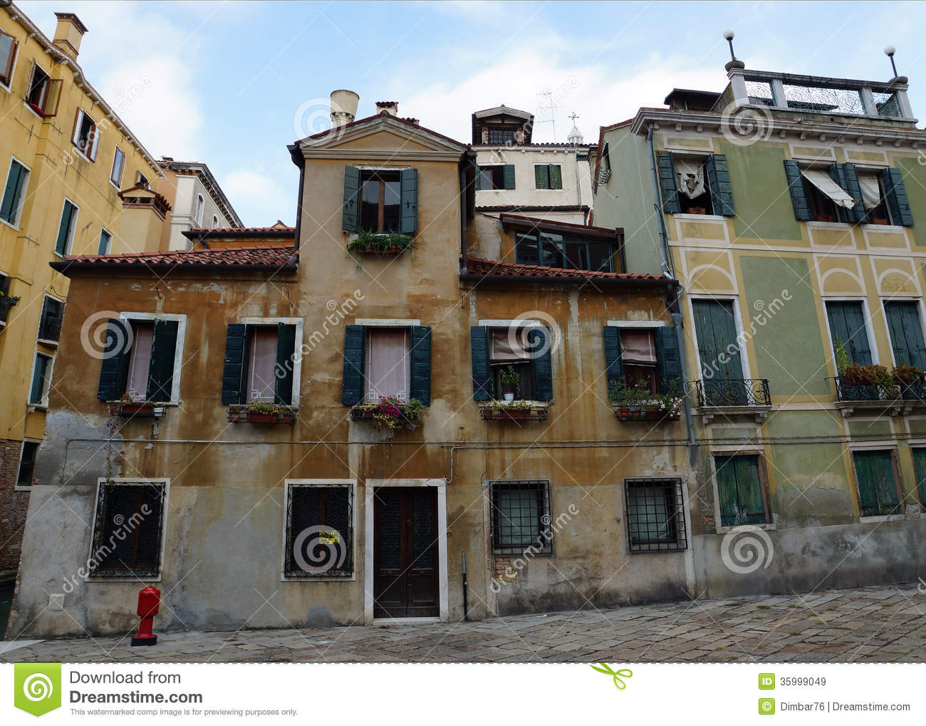 Old Facades Venetian Houses Italy Europe Stock Image
