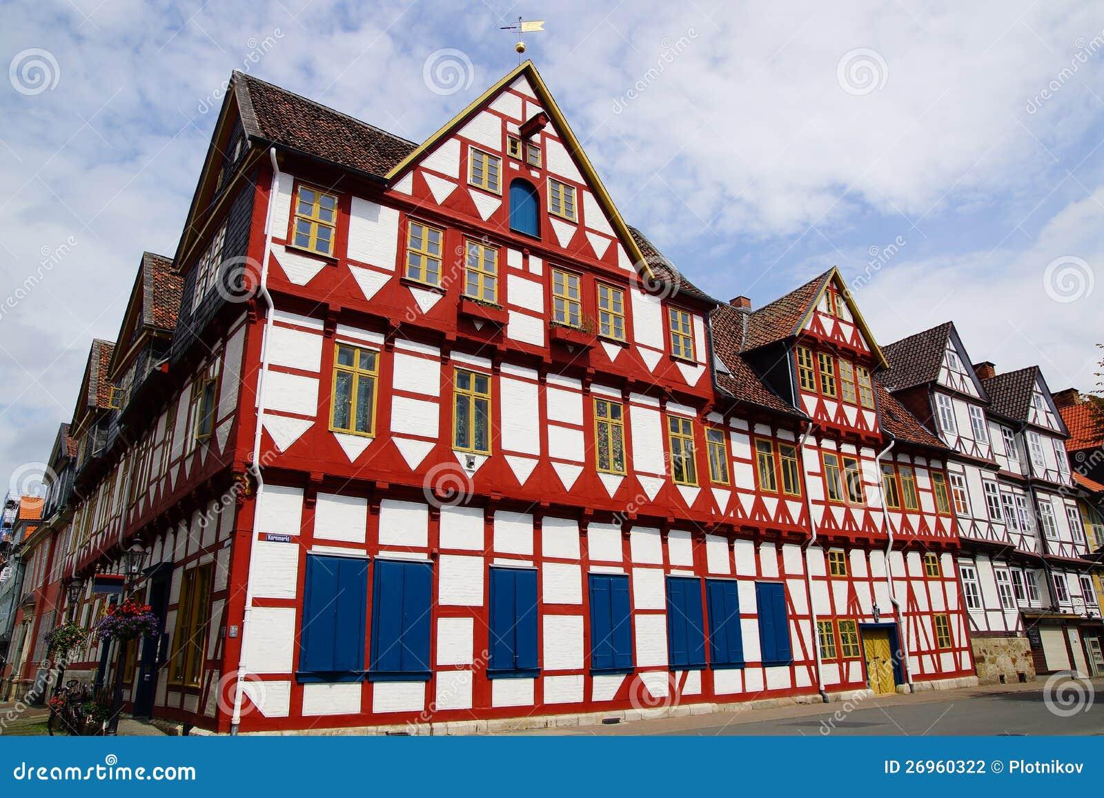 Old fachwerk house in wolfenbuttel stock photography for 3d fachwerk