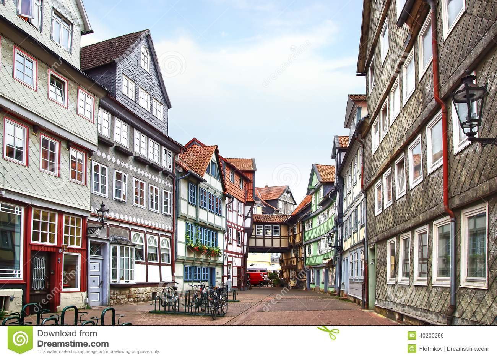 Old Fachwerk House In Wolfenbuttel Editorial Stock Image