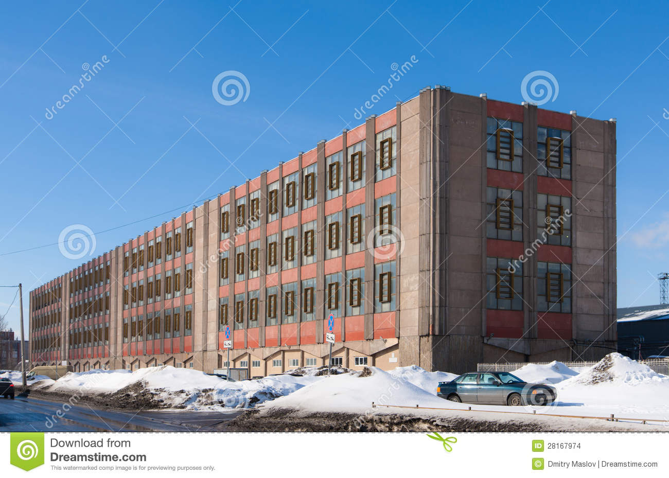 An old factory building in the industrial area of Sankt-Peterburg. Old Factory Building