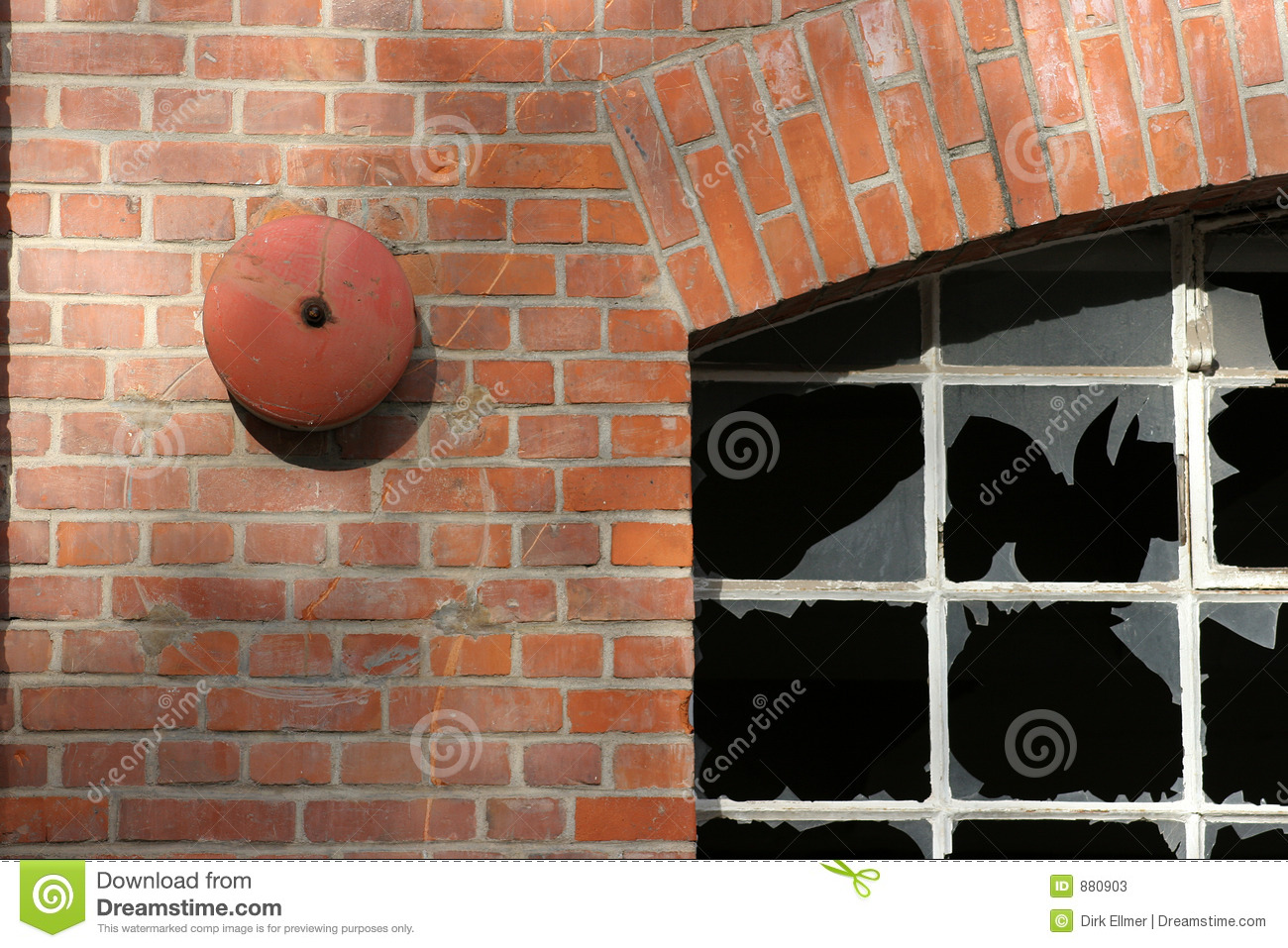 Download Old factory building stock image. Image of glass, alarm - 880903