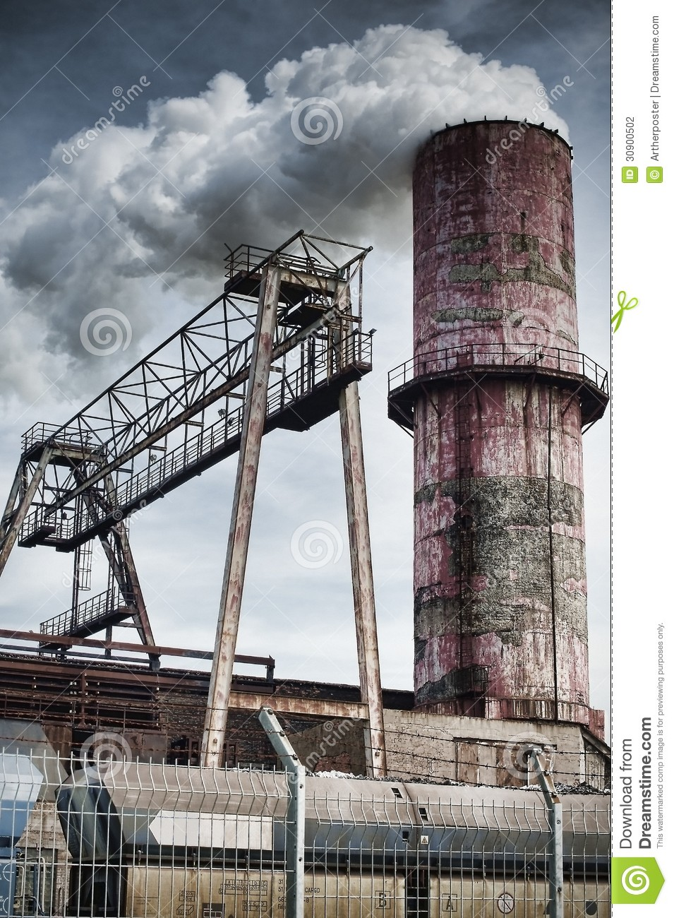 Old Factory Chimney Stock Photography Image 30900502