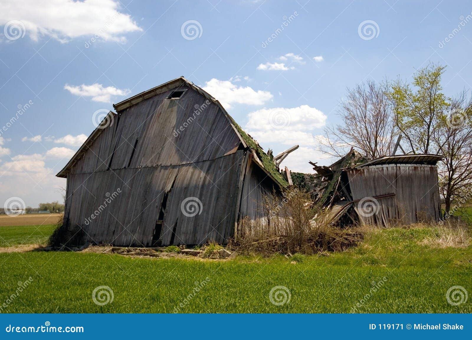 Old Fallen Barn